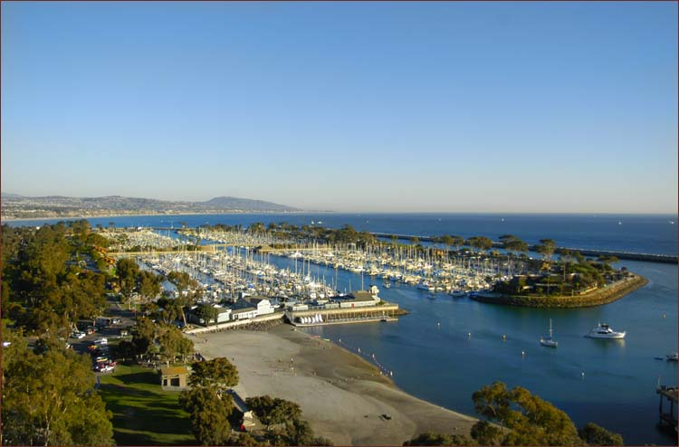 Dana Point Harbor, Southern California coastal lodging accommodations right around the bend.